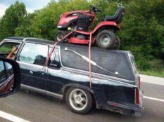 ez is egyfajta fűnyírótraktor szállítási mód