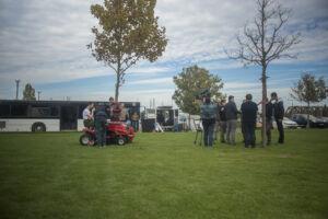 MTD traktorunk, forgatás közben