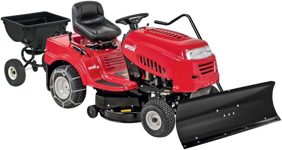 Extra felszereltségű fűnyíró traktor